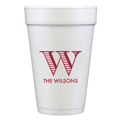 Family Custom Styrofoam Cups