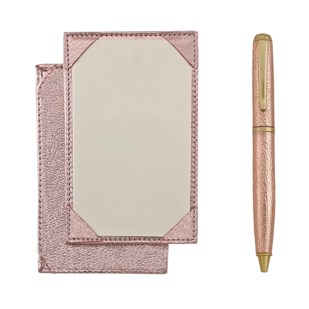 Jotter and Pen Set Rose Gold
