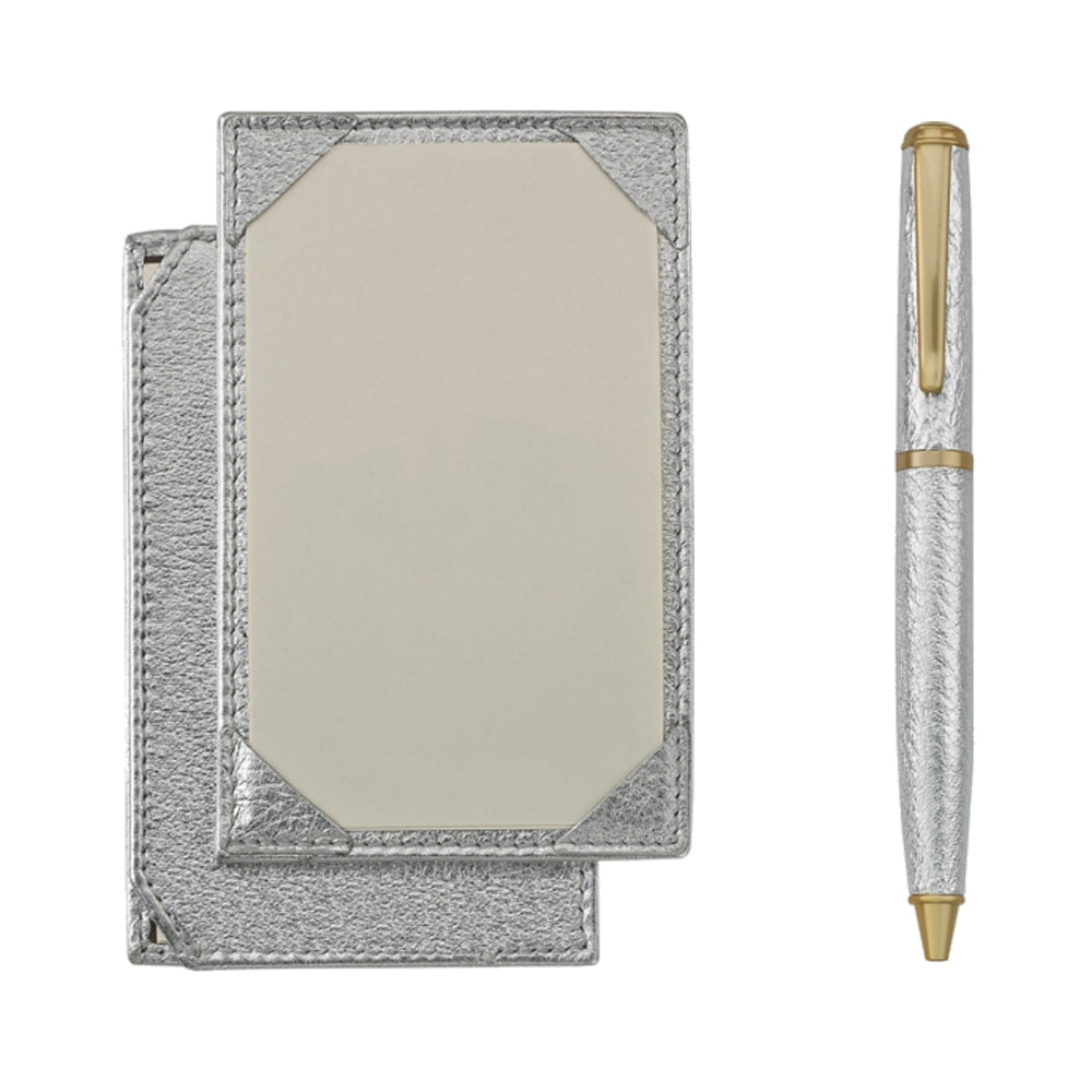 Jotter and Pen Set Silver