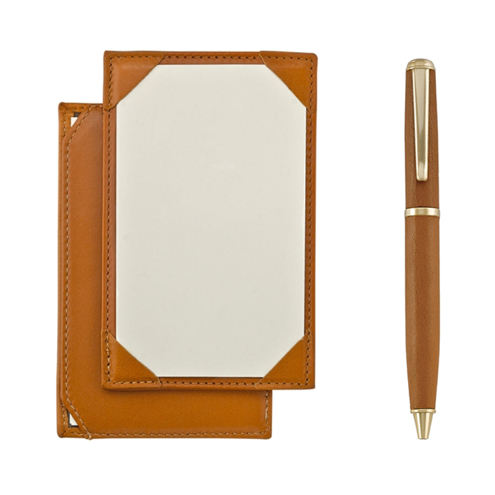 Jotter and Pen Set British Tan