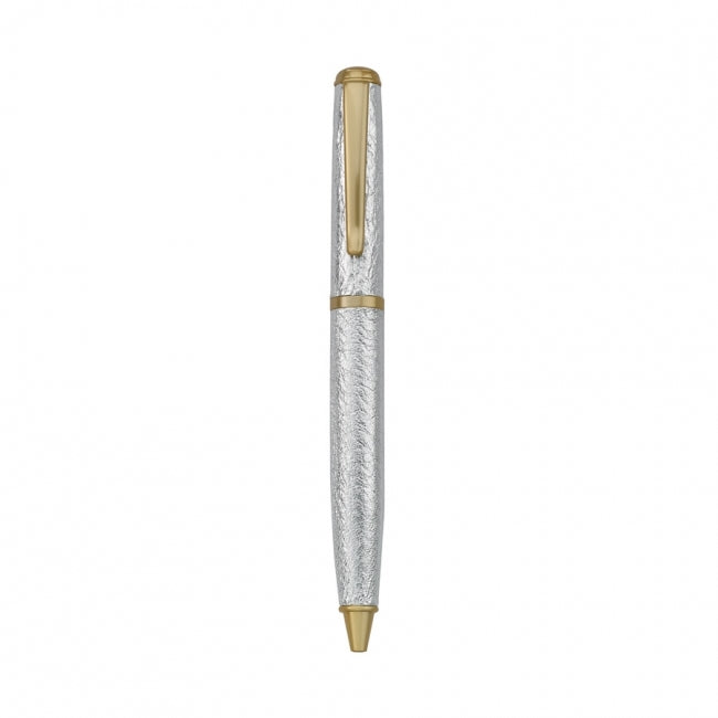 Leather Wrapped Pen Silver