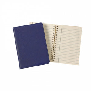 indigo blue navy leather notebook journal business monogram