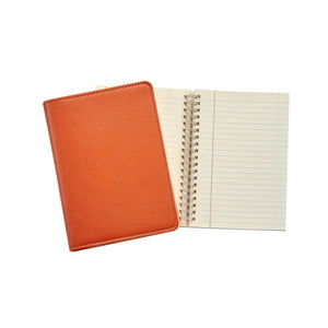 orange leather notebook journal business monogram charlotte southern