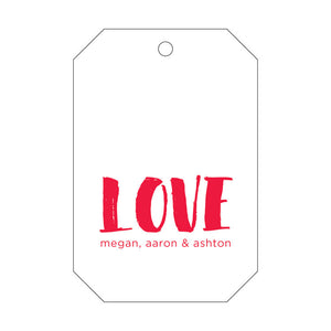 Letterpress Gift Tag Love 3