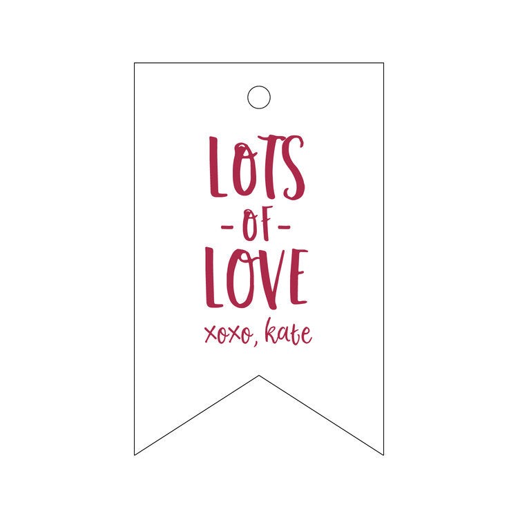 Letterpress Gift Tag Love 4
