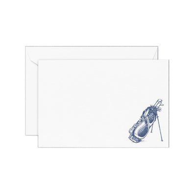 Blue golf bag correspondence notecards