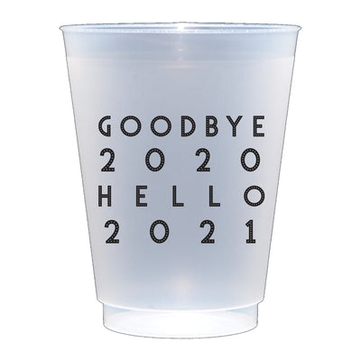 Goodbye 2020 New Year Reusable Plastic Cups at paper twist in Charlotte