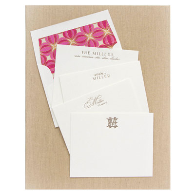 Letterpress Grand Silk Stationery 101