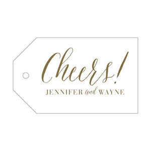 Letterpress Gift Tag Cheers 1