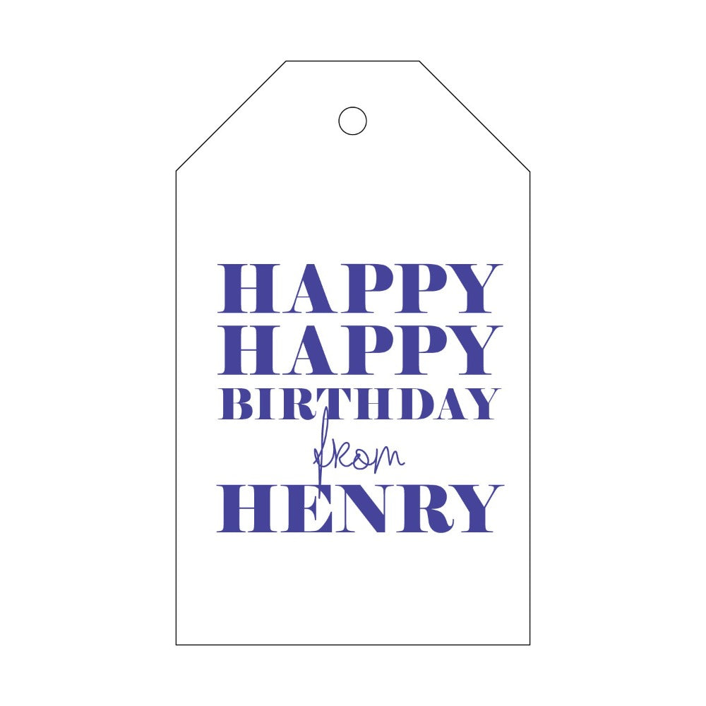 Letterpress Gift Tag Birthday 1