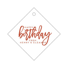 Load image into Gallery viewer, Letterpress Gift Tag Birthday 2
