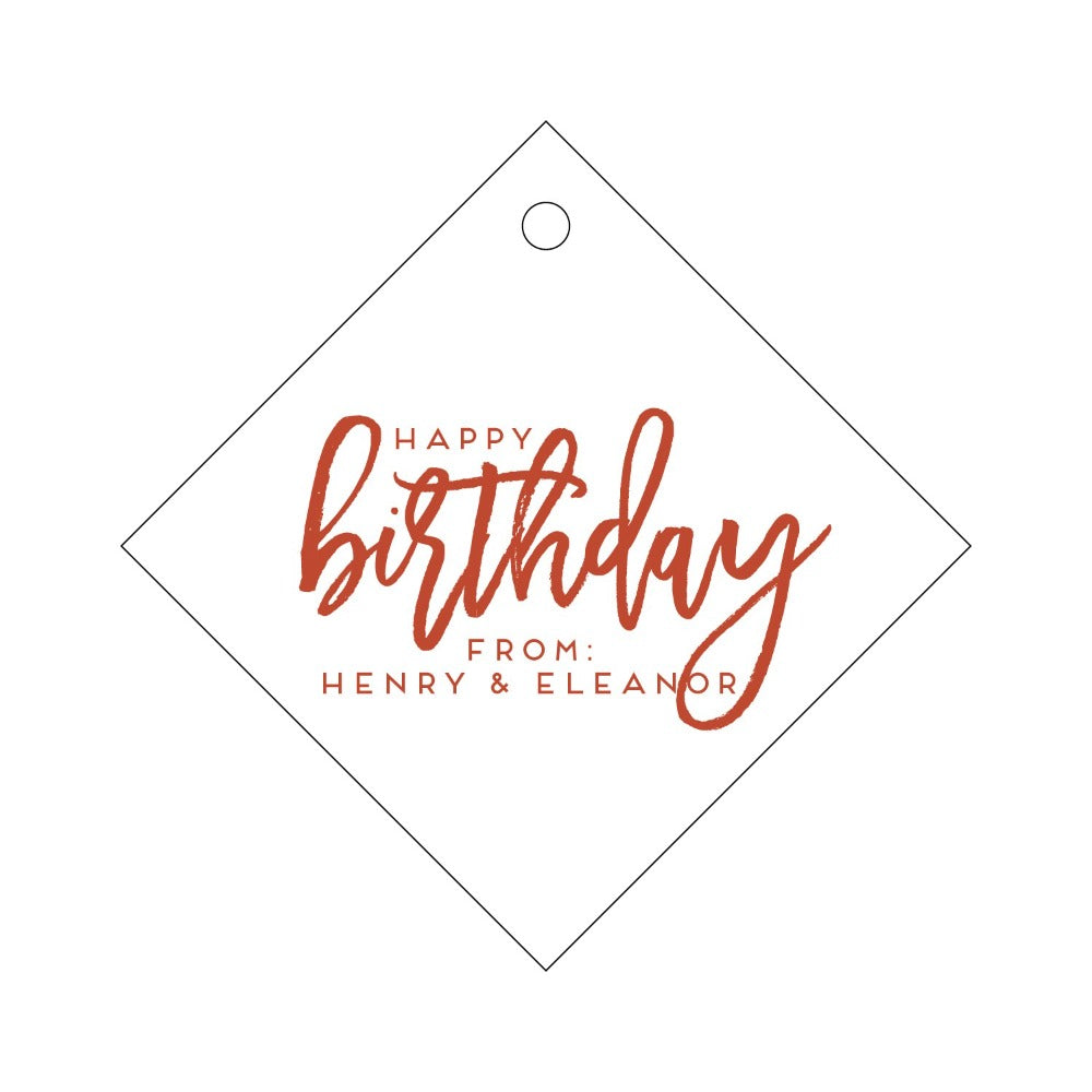 Letterpress Gift Tag Birthday 2