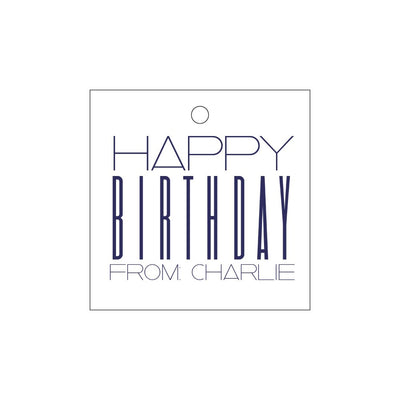 Letterpress Gift Tag Birthday 3