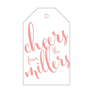 Letterpress Gift Tag Cheers 2