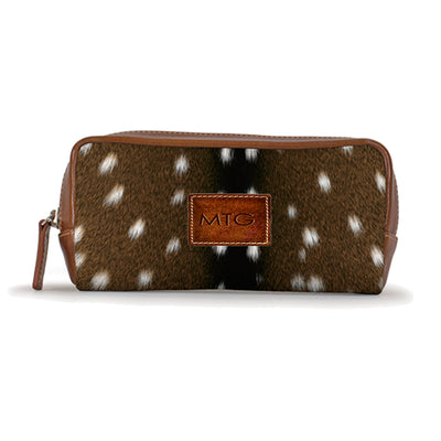 Deer Animal Print Cosmetic Case Personalized Leather