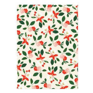Gift Wrap Holiday Florals