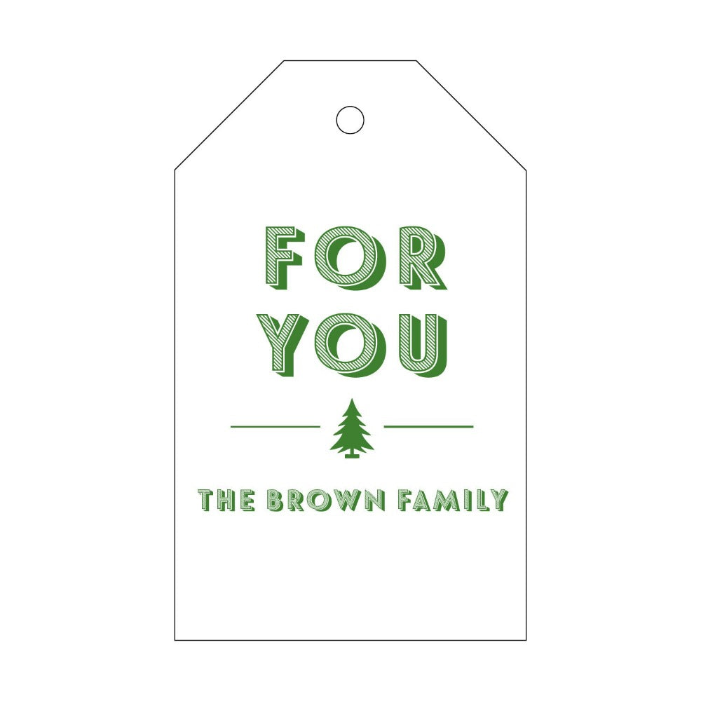 Letterpress Gift Tag Holiday 10
