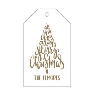 Letterpress Gift Tag Holiday 4
