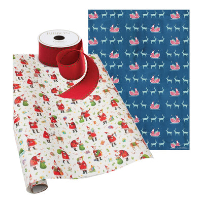 Holiday Gift Wrap Santa Wrap