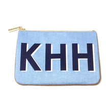 Load image into Gallery viewer, Barrington Large Monogram Zippered Pouch Shop Small Dallas Charlotte Local Gift