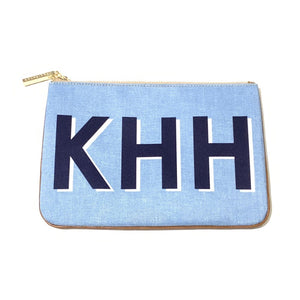 Barrington Large Monogram Zippered Pouch Shop Small Dallas Charlotte Local Gift