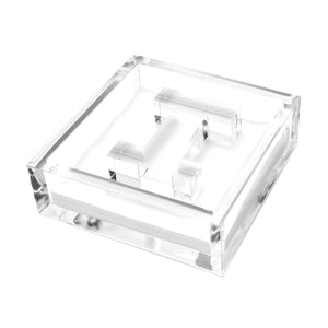 Lucite Acrylic Initial Letter Paper Weight Cocktail Napkin Holder
