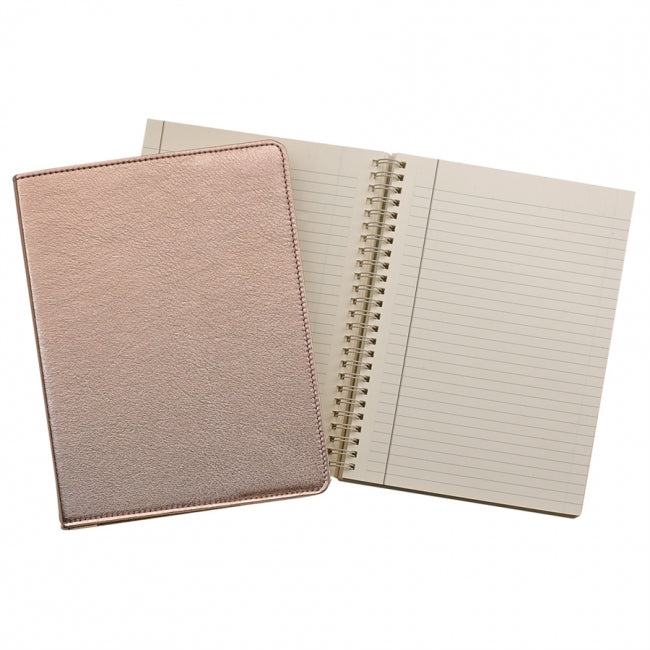 Leather Refillable Notebook Spiral Bound Desk Essentials Graduation Shop Small Local Charlotte