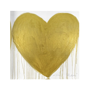 Block of Love Metallic Heart