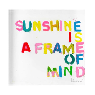 Sunshine is a Frame of Mind Rainbow Acrylic Art