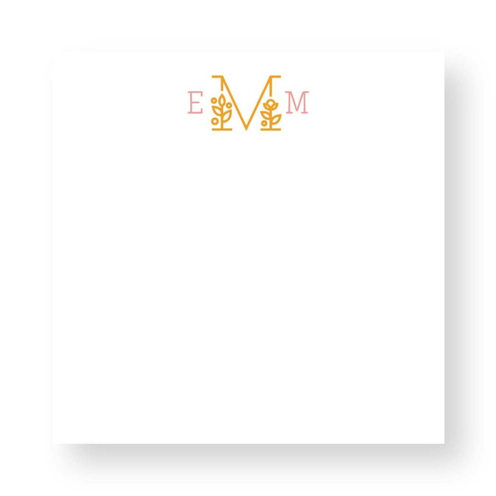 Custom Monogrammed Notepad