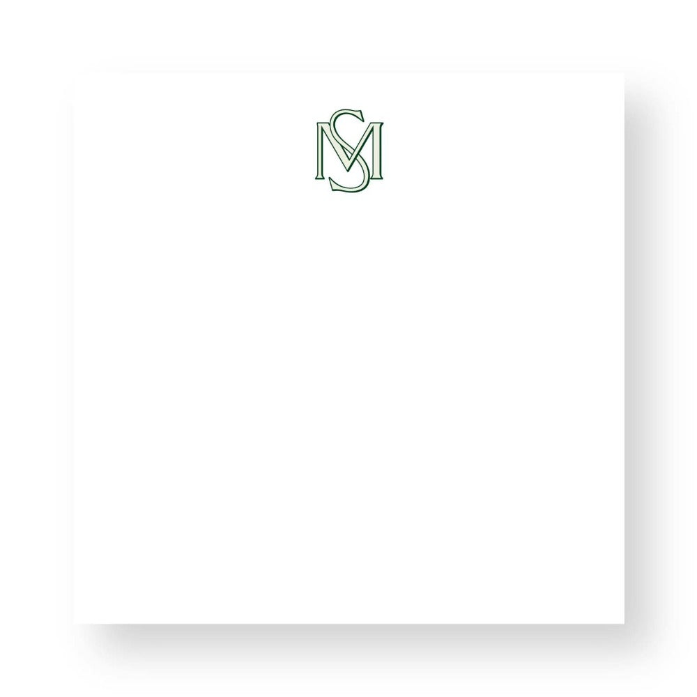 Custom Notepad Monogram 2