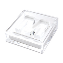 Load image into Gallery viewer, Lucite Acrylic Initial Letter Paper Weight Cocktail Napkin Holder