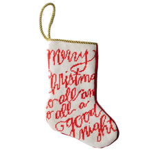 Load image into Gallery viewer, Christmas Greeting Mini Stocking