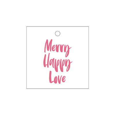 Merry Happy Love Holiday Tag