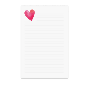 Personalized Stationery Stationary Notepad Desk Accessories Heart Love Shop Small Local Charlotte
