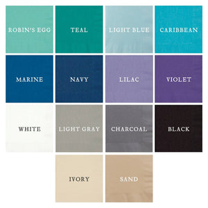 Custom Napkin Colors