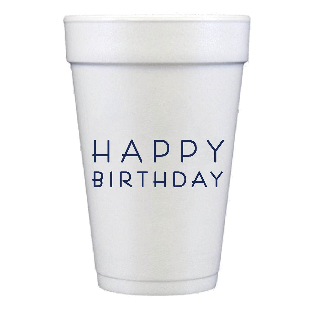 Happy Birthday Foam Cups