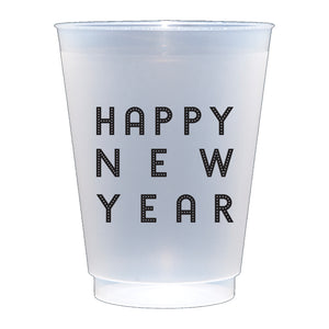 Happy New Year 2021 Reusable Plastic Cups at paper twist in Charlotte