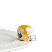 Load image into Gallery viewer, Notre Dame Football Helmet Ceramic Mini Nora Fleming Attachment Charlotte Shop Small