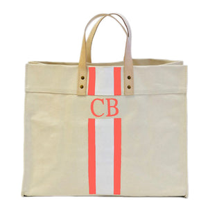 Painted Canvas Boxed Tote