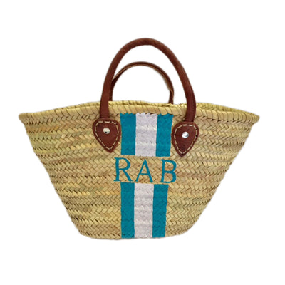 Painted Straw Bag Large