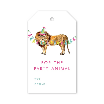 Gift Tags Party Animal