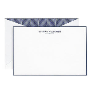 Engraved Stationery Bordered 201