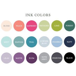 Personalized Petite Notecard Ink Colors