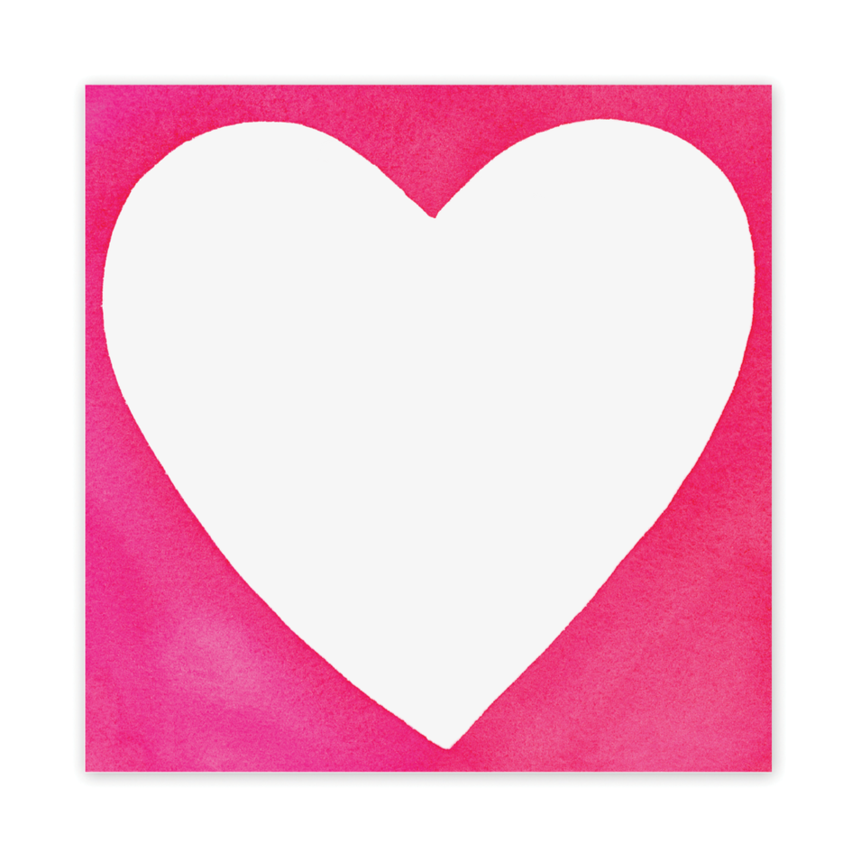Pink Heart Square Notepad. Stationery. Stationary. Ready to Write. Shop Small. Charlotte.