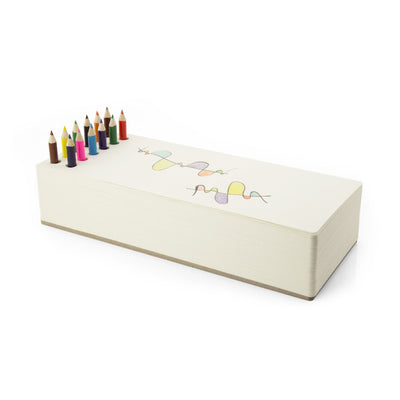 Chunky notepad with colored pencils. Shop stationery at paper twist in charlotte