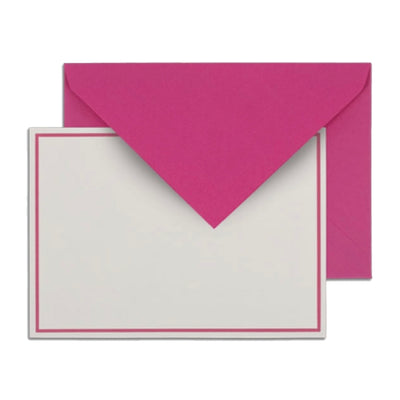 Hot Pink Raspberry Notes Boxed Stationery Stationary Thank You Correspondence Shop Small Charlotte