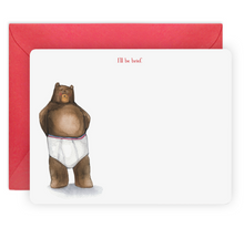 Load image into Gallery viewer, Bear Notecards Kids Children Stationery Stationary Thank you Notes