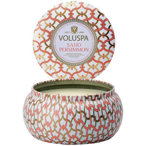 peach persimmon coral candle tin charlotte papertwist gift hostess