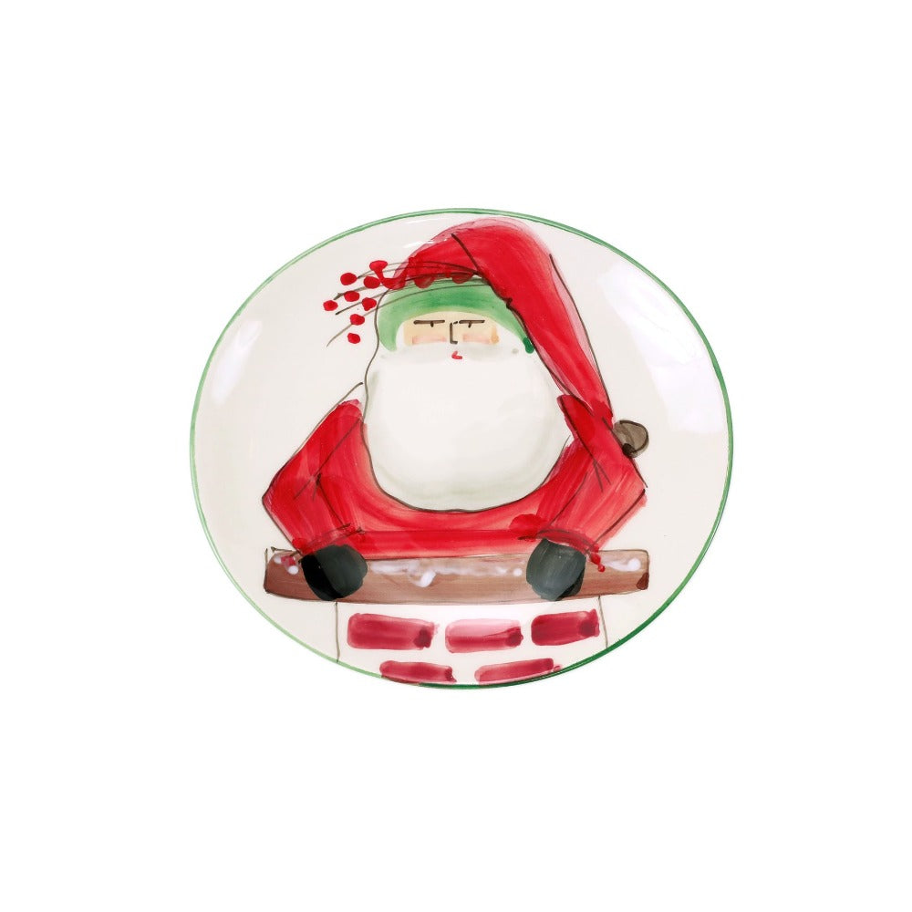 Santa Cookie Plate Christmas Holiday China Shop Small Paper Twist Charlotte
